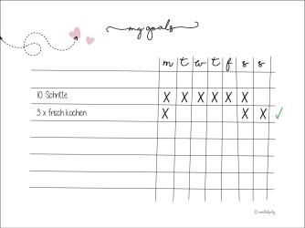 Variante #2 weekly planner